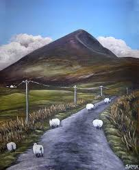 croagh patrick with sheep